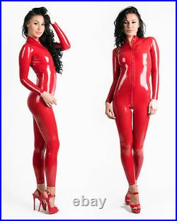 0.25mm Latex Rubber Catsuit East-On (Chlorinated, Extra Thin) Red or Black