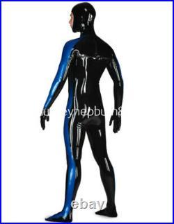 100% Latex Anzug Rubber Latex Catsuit Gummi Ganzanzug Latexanzug 0.4MM S-XXL