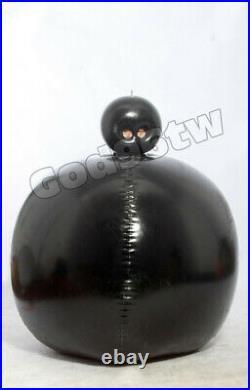 100% Latex Gummi Rubber Inflatable Ball bodysuit mask hood Blowu Huge Catsuit