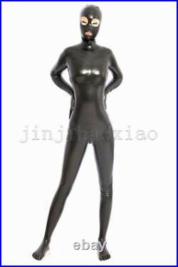100%Latex Rubber Gummi Ganzanzug Catsuit 0.48mm Bodysuit Zentai Kostüm Zehensock
