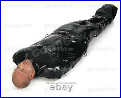 100% Latex Rubber Gummi Sleeping Sack 0.7mm Catsuit Bodybag Zentai Wear Costum
