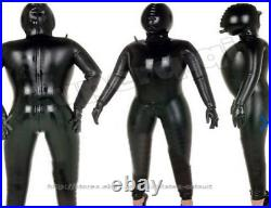 100% Latexanzug Rubber Catsuit Gummi Suit Sexy Tight Cosplay Gummianzug S-XXL