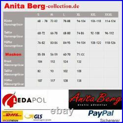 Anita Berg ab4819 Latex Catsuit Overall mit Zipper ouvert Gr. XL schwarz Rubber