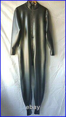 BN Men's Rubber Latex, Thru zip catsuit