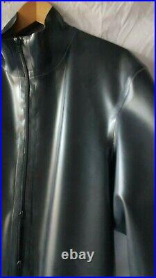 BN Men's Rubber Latex, Thru zip catsuit 2XL