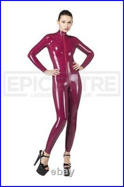Classic Latex Rubber Catsuit. Easy-On (Chlorinated) 8 Colours Available