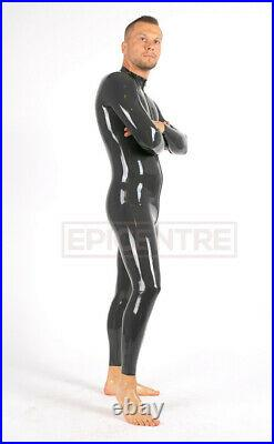Classic Latex Rubber Catsuit Easy-On (Chlorinated) DARK GREY