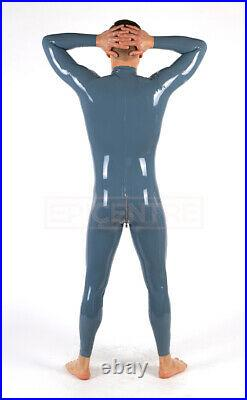 Classic Latex Rubber Catsuit Easy-On (Chlorinated) STEEL GREY