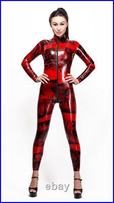 Epicentre Patterned Latex Rubber Catsuit Easy-On (Chlorinated)