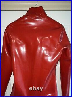 Fantastic Rubber Big Boobs latex catsuit men made To Measure