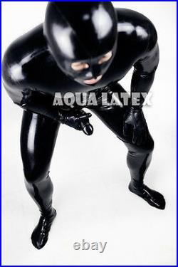 Fetish Zentai Rubber Latex Full Bodysuit Tight Sexy Gummi Suit Latex Catsuit