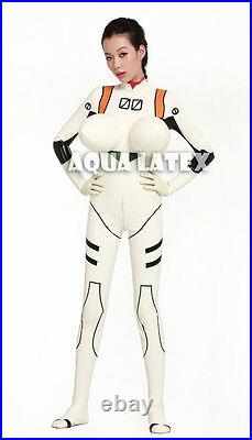(Free Shipping) EVA Latex Cosplay Catsuit, Zero Wing Rubber Costume Bodysuit