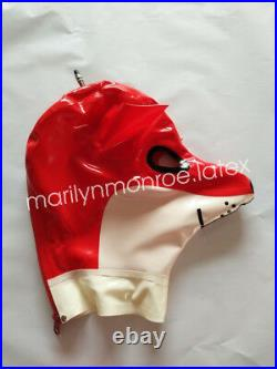 Hot Latex Fox Bodysuit Rubber Masquerade Inflated Animal Catsuit Size XXS-XXL