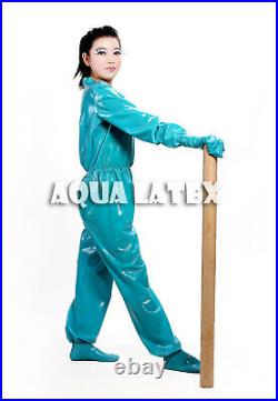 Jumpy n Jamming Loose Fit Rubber Latex Catsuit with Mittens Zentai Gummi