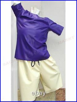 Latex Bermuda T-Shirt Hemd Hose Slip Short Latexslip Body Catsuit Maske Rubber