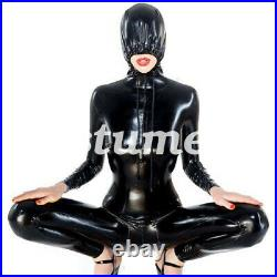 Latex Full Body Catsuit 100% Rubber Hooded Wet look 2019 Tights 0.4mm Size S-XXL