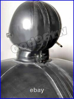 Latex Gummi Rubber 0.4mm Inflatable Ball bodysuit mask hood Blowu Huge Catsuit