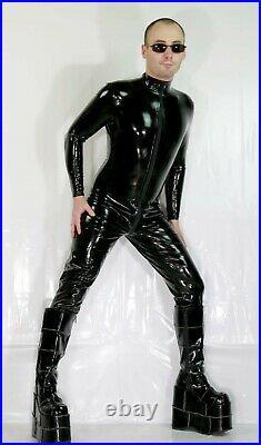 Latex Gummi Rubber Catsuit Overall Ganzanzug! Farbe schwarz, Color black