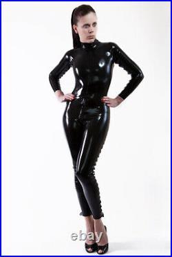 Latex Gummi Rubber Catsuit Overall Ganzanzug! Mit Latex Schnrung Latex Lace-up
