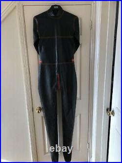 Latex Rubber Catsuit Fetish with feet and gloves bondage style XL