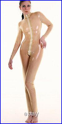 Latex Rubber Catsuit Overall Whole Body / 3 Way Rv / 3way Crotch Zipper