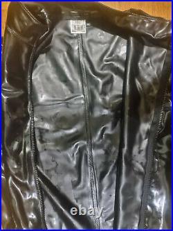 Latex Rubber Genäht Surfsuit Small/Medium S M Schwarze Mode Heavy Catsuit XS