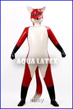 Latex/Rubber Inflatable Fox Catsuit Outfits Inflatable Animal Cosplay Pet Suit