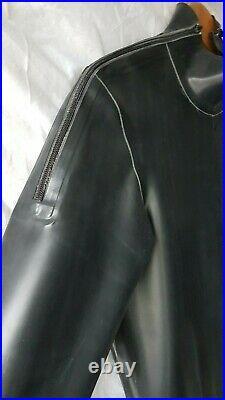 Latex Rubber Zip Shoulder Catsuit with Codpiece