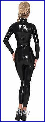 Ledapol 4776 Natur Latex Overall Rubber Catsuit mit Zipp Gr. XL schwarz