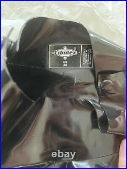 Libidex Latex Black Medium Shoulder Zip Catsuit Fetish / Gummi / Rubber New