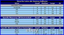 MEDIUM 100% Latex Rubber Air Hostess Uniform Second Skin Catsuit Style Rubber