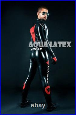 Man Custom Moto Suit Rubber Catsuit Latex Costume Great Rubber Bodysuit Outfit