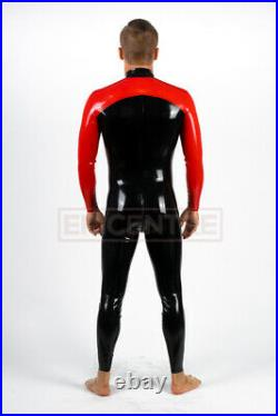 Man Two Colors Latex Rubber Catsuit Easy-On (Chlorinated)