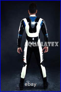 Man's Moto Rubber Catsuit Sexy Latex Bodysuit