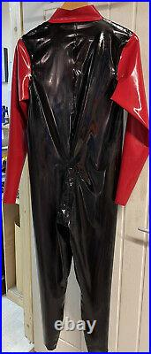 Mens New rubber latex catsuit Size Small, Medium, Large And Xl