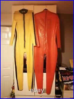 NEW Latex Rubber 2 Bodysuit womens medium