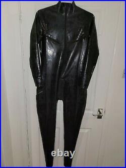 NEW Latex Rubber Catsuit zipped open boob full bodies full bodysuit UK seller