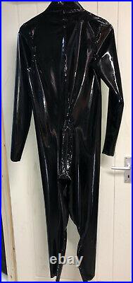 New mens rubber latex catsuit Size Small