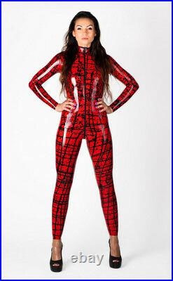 PATTERNED LATEX RUBBER CATSUIT. EASY-ON (Chlorinated)