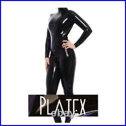 Platex Latex Rubber Gummi Womens Cosplay 0.4mm Catsuit with 3-way Zip