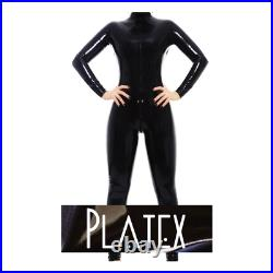 Platex Latex Rubber Gummi Womens Cosplay CHLORINATED Catsuit with 3-way Zip