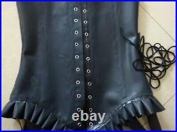 Real Latex Rubber Gummi 1.2mm Corset Underbust Catsuit Suit Lace Heavy Wear