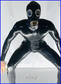 Rubber Latex Catsuit Back Zip 0.4 mil 100% Latex Rubber