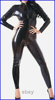 Rubber Latex Catsuit Women's Front Zip 0.4 mil 100% Latex Rubber