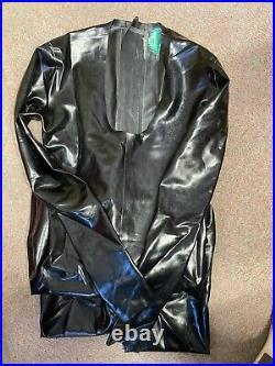 Rubber Latex Lingerie Scoop neck CATSUIT 2 way zipper size 8 UK £322