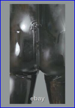 Rubber Latex Men's Pouch Front Thru Zip Catsuit