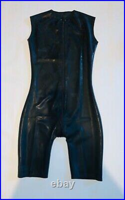 Rubber Latex Sleeveless Catsuit Front Zip 0.4 mil 100% Latex Rubber