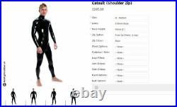 STR skintightrubber Skin Tight Rubber Latex Catsuit Men's Medium
