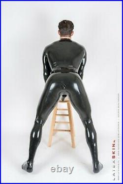 SUMMER SALE Basic Neck Entry Latex/rubber catsuit/fullsuit Black 0.25 mm Size S