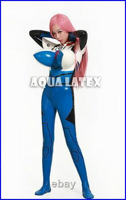Sexy and Cool Unisex Rubber Latex Catsuit, Bodysuit with Inflatable Breasts